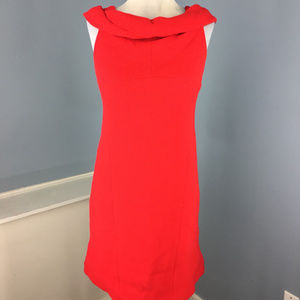 Per se Carlisle Red Wool Dress S 2 4 cocktail dres